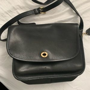 Vintage Coach Black CrossBody Purse